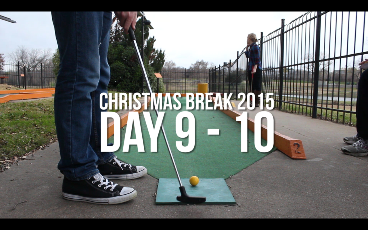 Christmas Break Vlogging – Putt Putt & Smithmas!