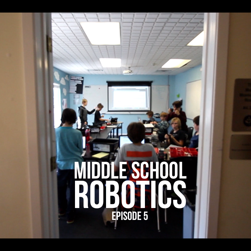 Middle School Robotics – Episode 5 : Students Debate Over Ways To Program 'Gold Digging' Robot