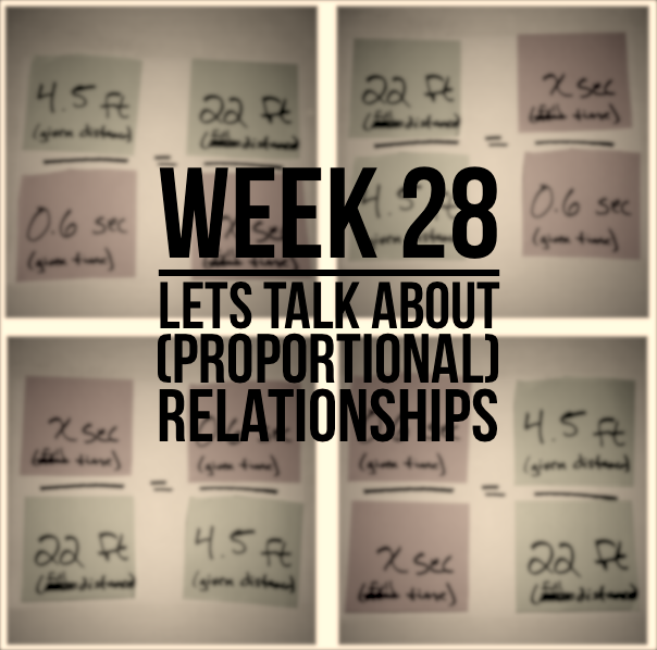 Week 28 – Let's Talk About (Proportional) Relationships