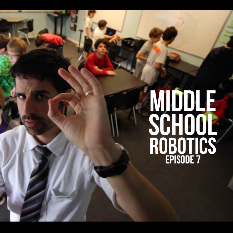 Middle School Robotics Episode 7 : A Project We've Never Done Before